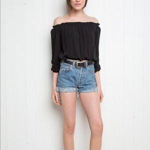 Brandy Melville off the shoulder peasant blouse